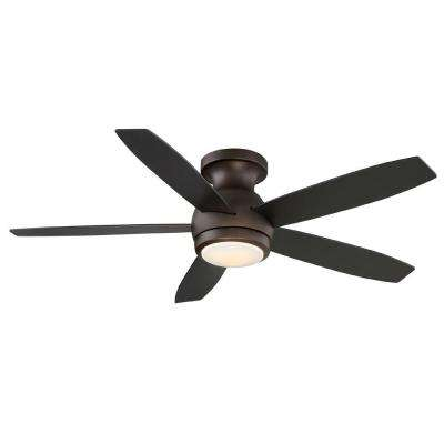 Oil Rubbed Bronze Indoor Led Ceiling Fan With Remote Control
