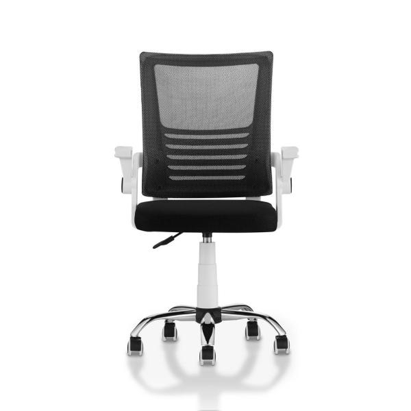 Furniture of America Dimitri White Mesh Height Adjustable Swivel Office Chair