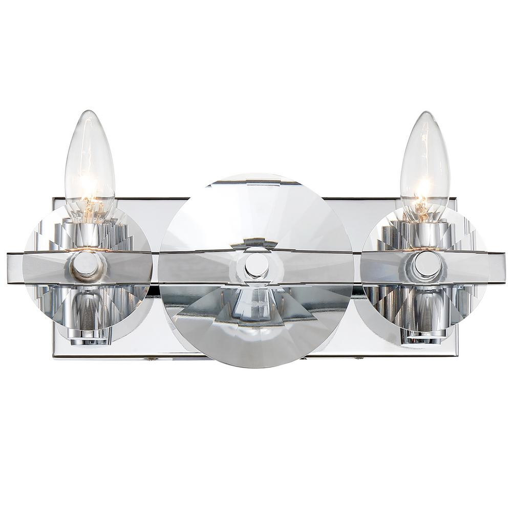 Varaluz Rogue Decor Engeared 2-Light Chrome 12 in. W Bath Light