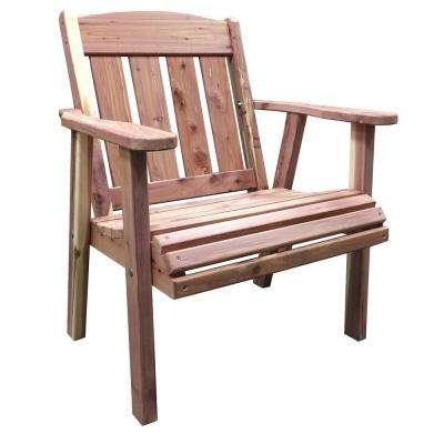 Amish Unfinished Cedar Patio Lounge Chair