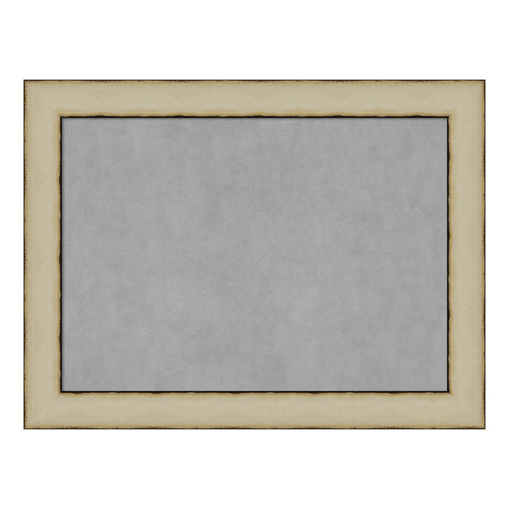 Rusted Cream Framed Magnetic Memo Board