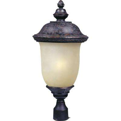 Carriage House Energy Efficient 1-Light Oriental Bronze Outdoor Pole/Post Mount