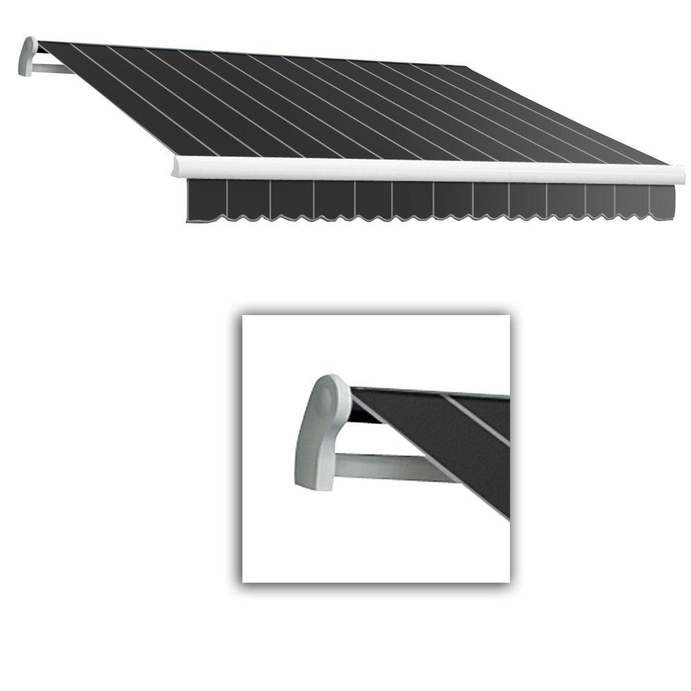AWNTECH 12 ft. Maui-LX Left Motor Retractable Acrylic Awning with Remote (120 in. Projection) in Gun Pin