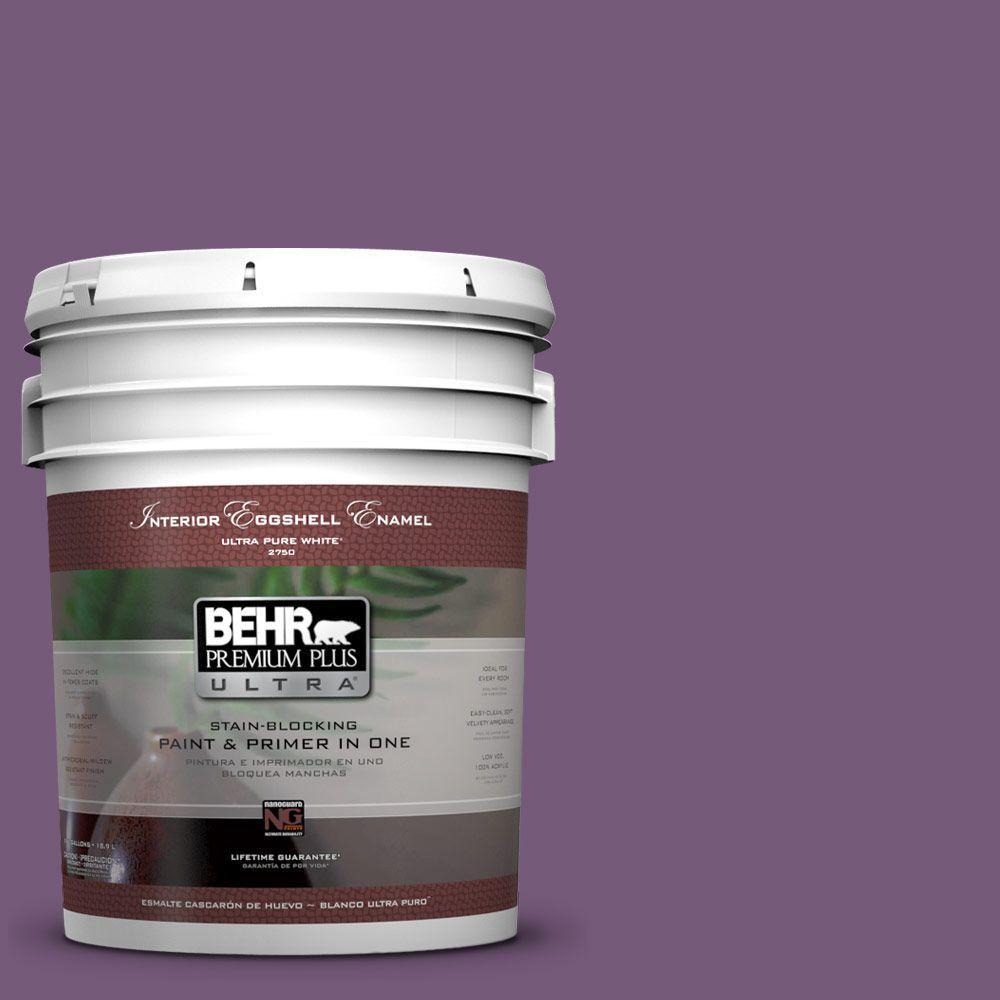 BEHR Premium Plus Ultra 5-gal. #670D-7 Gala Ball Eggshell Enamel Interior Paint