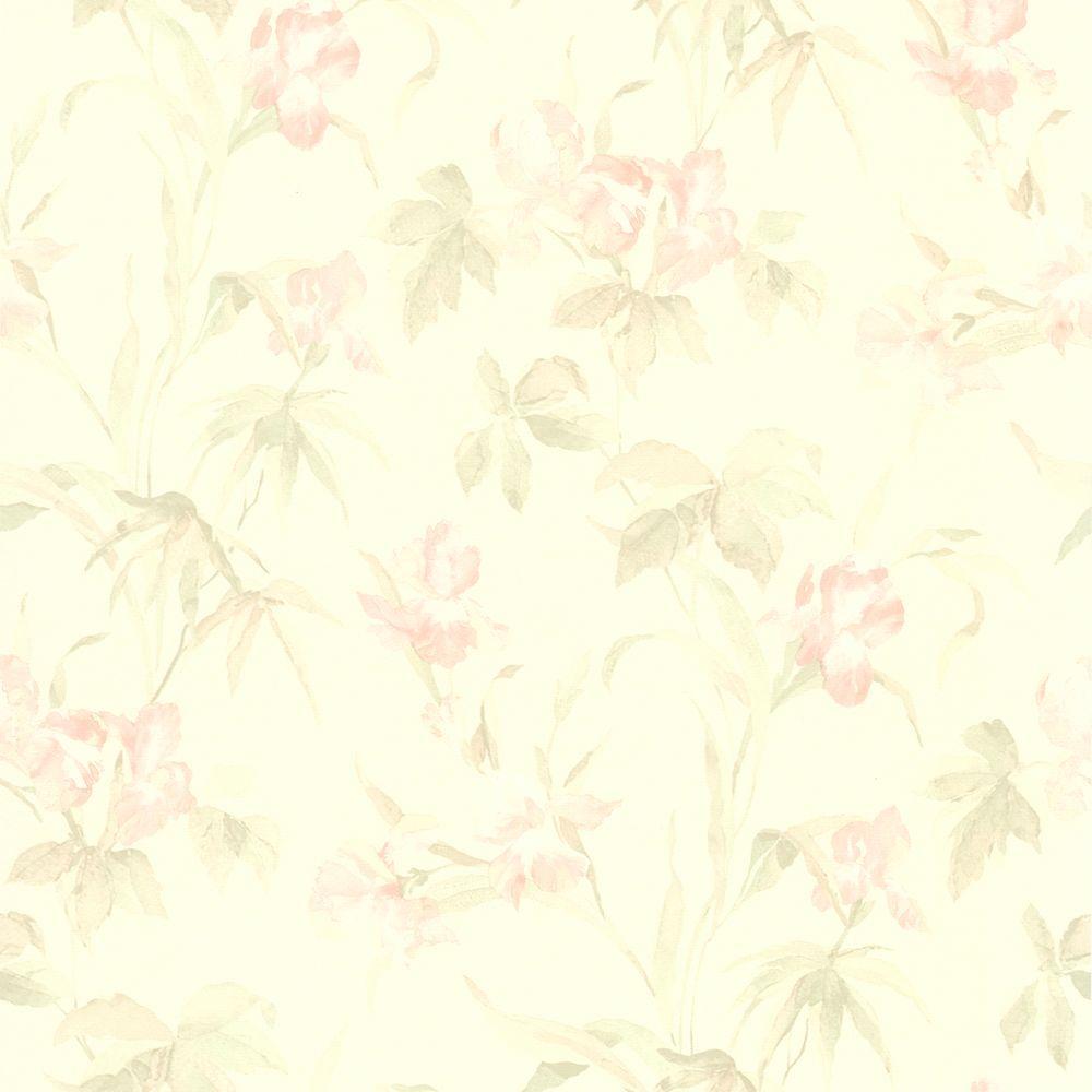 Light Pink Iris Floral Wallpaper 414 65782 The Home Depot