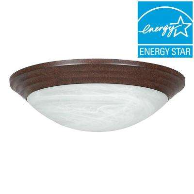 Engelmann 2-Light Oil Rubbed Bronze Flush Mount