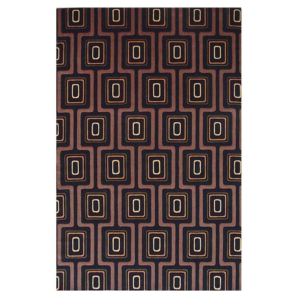 Kas Rugs Tate Promotion Black 5 ft. x 8 ft. Area Rug