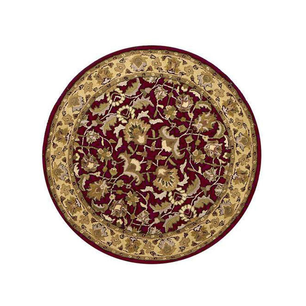 Home Decorators Collection Constantine Burgundy 5 ft. 9 in. Round Area Rug