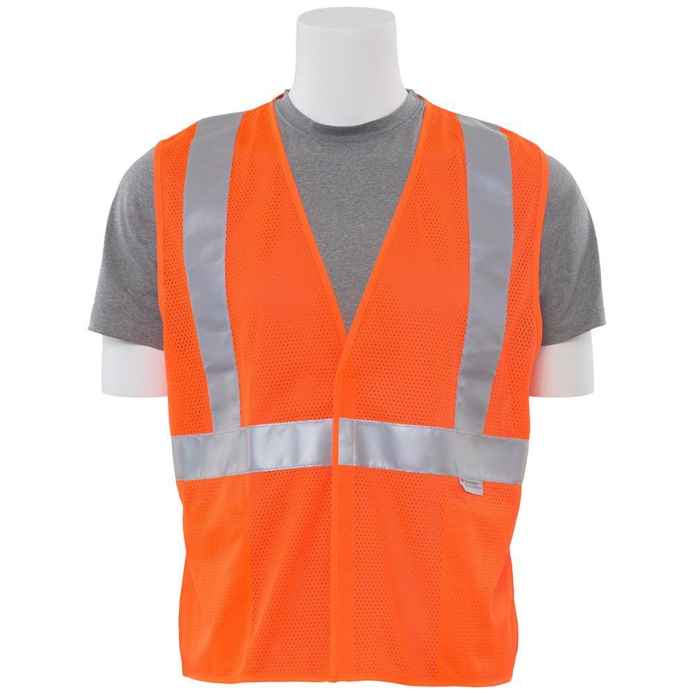 Ergonomics INC S15 MD Class 2 Poly Mesh Hi Viz Orange Vest