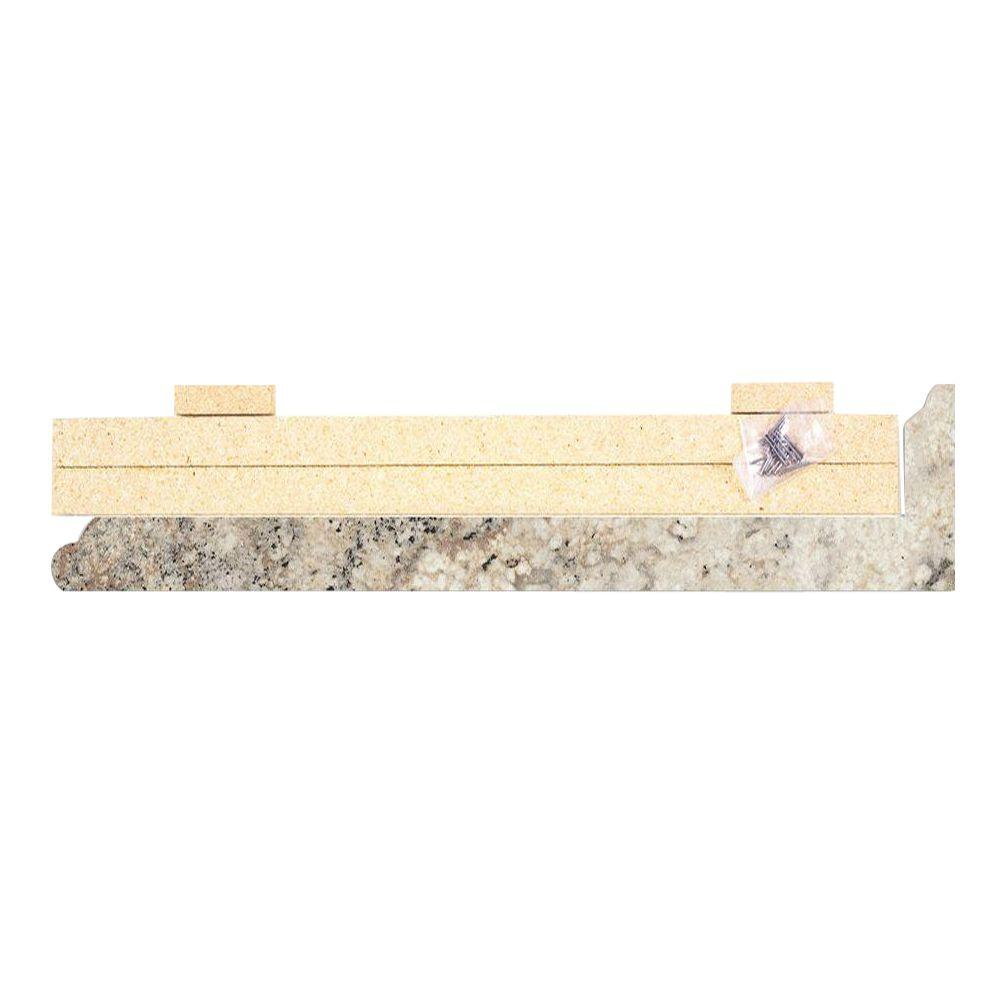 4-5/8 in. x 25-5/8 in. Valencia Kitchen Depth Laminate Endcap Kit