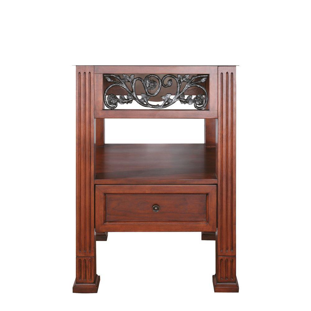 Napa 24 in. W x 21.5 in. D x 34 in. H Vanity Cabinet Only in Dark Cherry