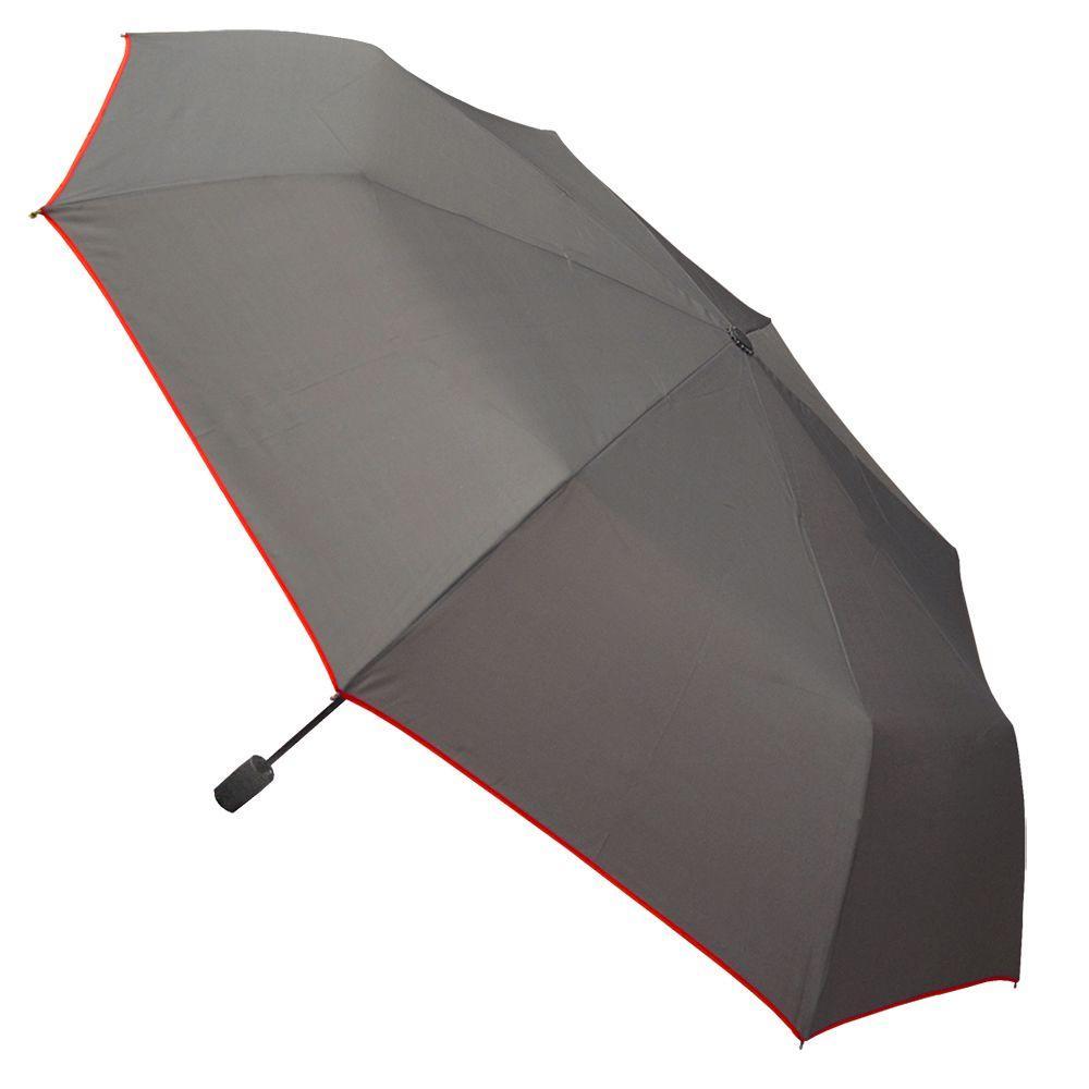 Color Trim Small Gray Auto Open Umbrella