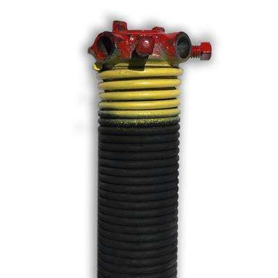 0.207 in. Wire x 2 in. D x 25 in. L Torsion Spring in Yellow Right Wound for Sectional Garage Doors