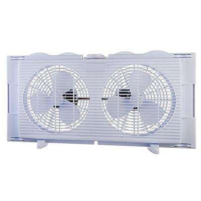6 in. High Velocity 2-in-1 Double Window Fan Horizontal Vertical Fit Energy Efficient