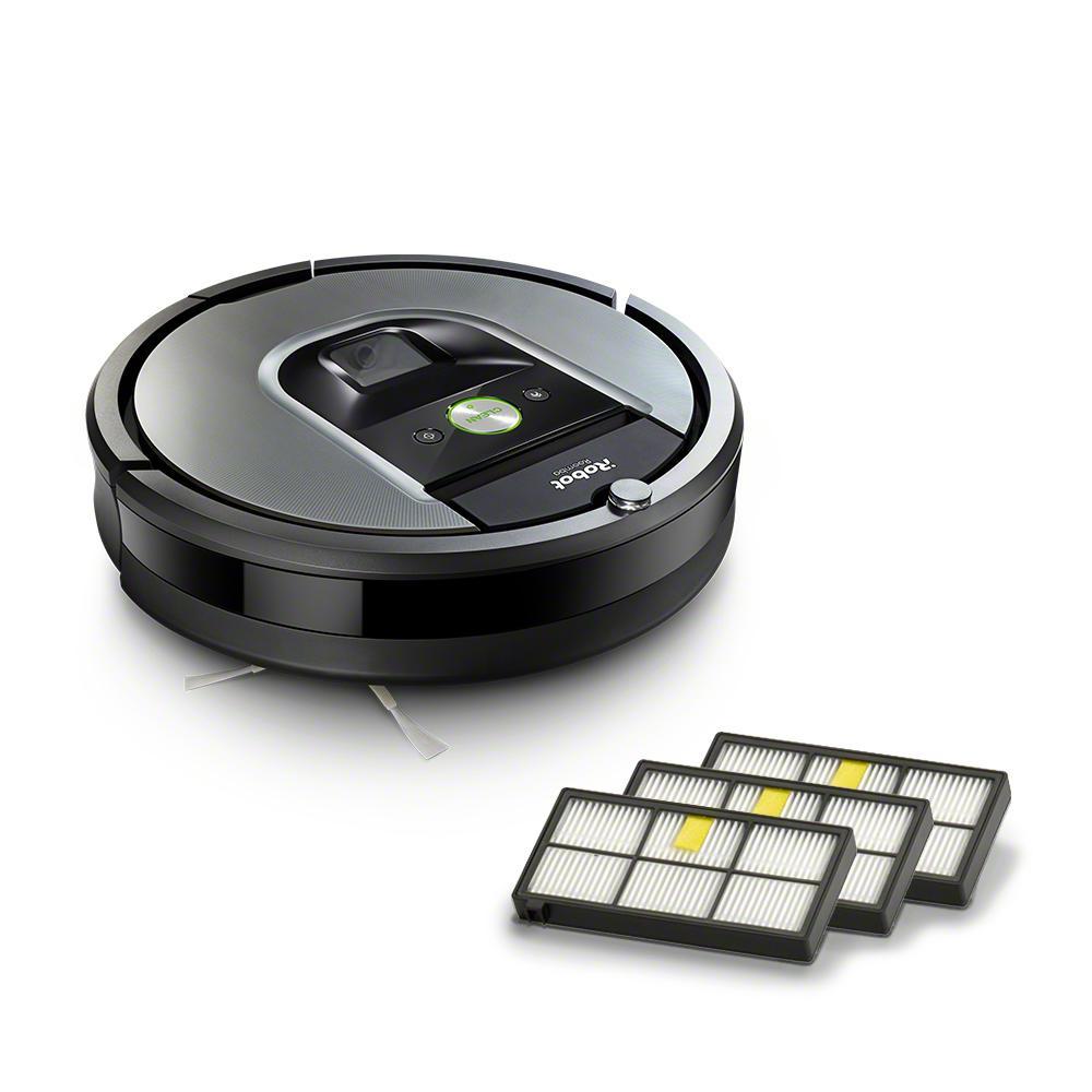 iRobot Roomba 960 Wi-Fi Connected Robot Vacuum Bundle (+3 Extra Filters)