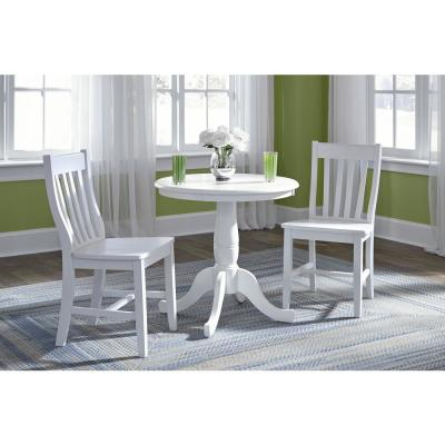 Tremendous White Solid Wood Dining Chairs Kitchen Dining Room Ibusinesslaw Wood Chair Design Ideas Ibusinesslaworg