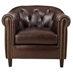 home decorators collection brexley leather club chair home decorators collection warin chocolate leather club 13631
