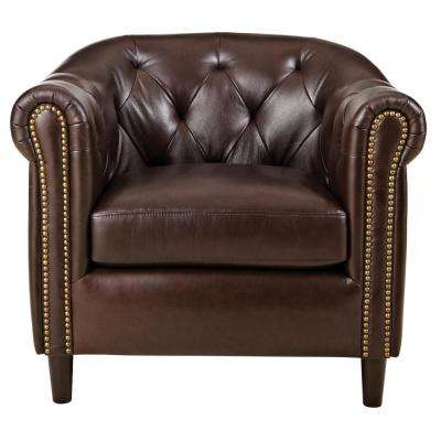 Warin Chocolate Leather Club Chair