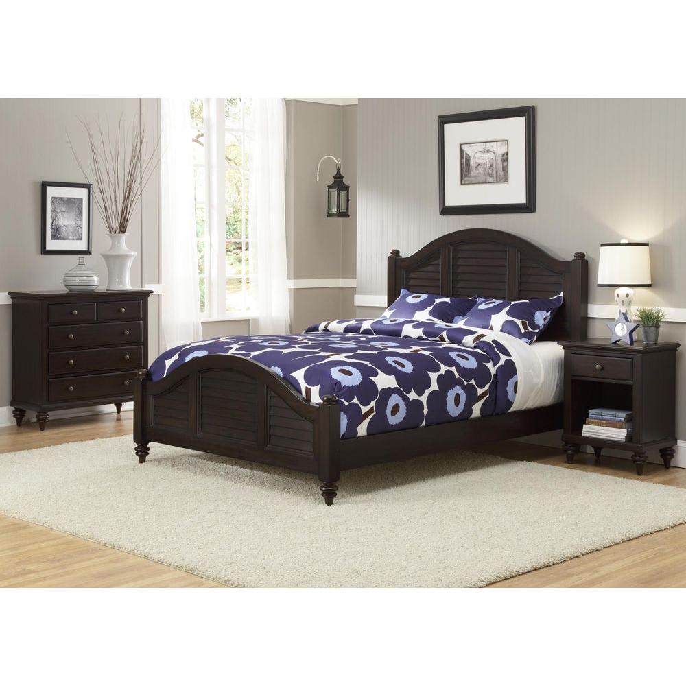 Home Styles Bermuda 3 Piece Espresso Queen Bedroom Set 5542 5018   The Home  Depot