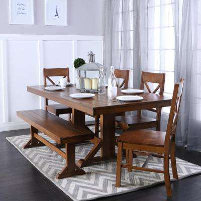 Millwright 6 Piece Antique Brown Dining Set. Antique Brown; Black