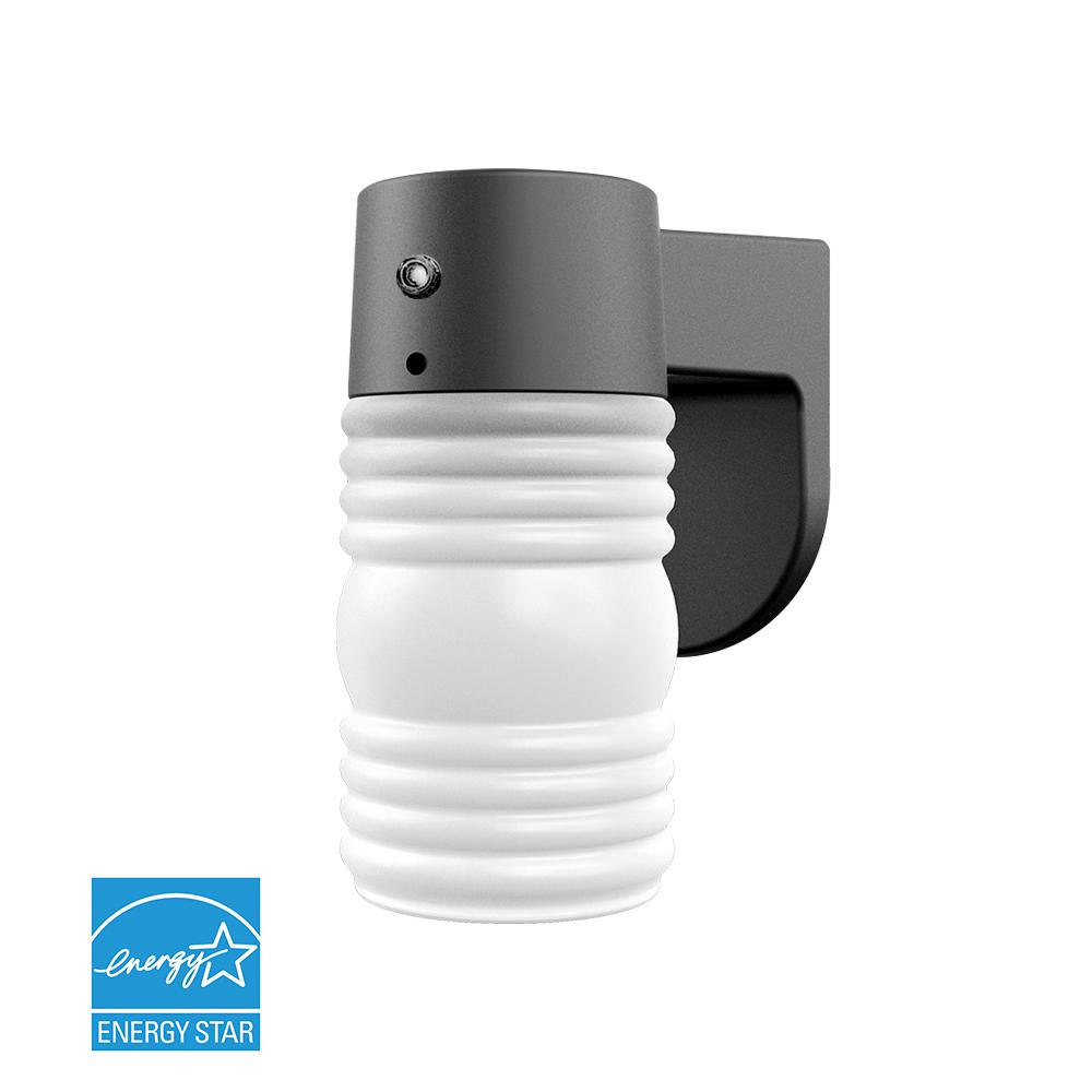 Dusk To Dawn Outdoor Wall Mounted Lighting Photoelectric Sensor For Lights 1 Light Matte Black Mount Lantern With Photocell