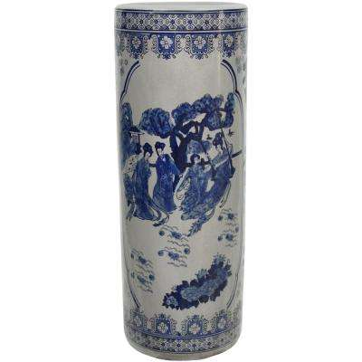 Oriental Furniture 23.5 in. Porcelain Decorative Vase in Blue