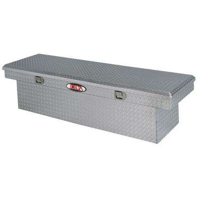 70 in. Aluminum Single Lid Deep Full Size Crossover Tool Box in Bright
