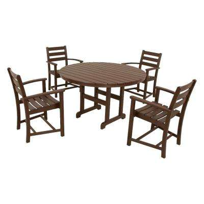 Monterey Bay Vintage Lantern 5-Piece Plastic Outdoor Patio Dining Set
