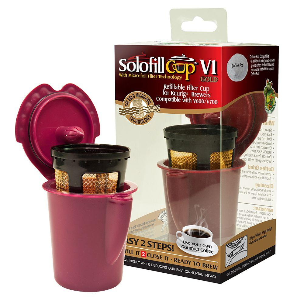 Solofill Refillable Reuseable K-Cup for Keurig Vue Brewer ...