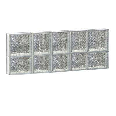 32.75 in. x 13.5 in. x 3.125 in. Ice Pattern Glass Block Window with Dryer Vent