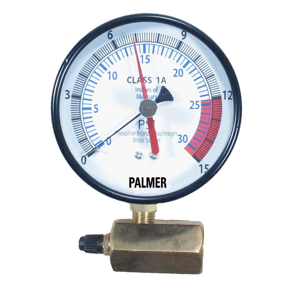 4 in. Dial 15 psi Specialty Gas Test Gauge