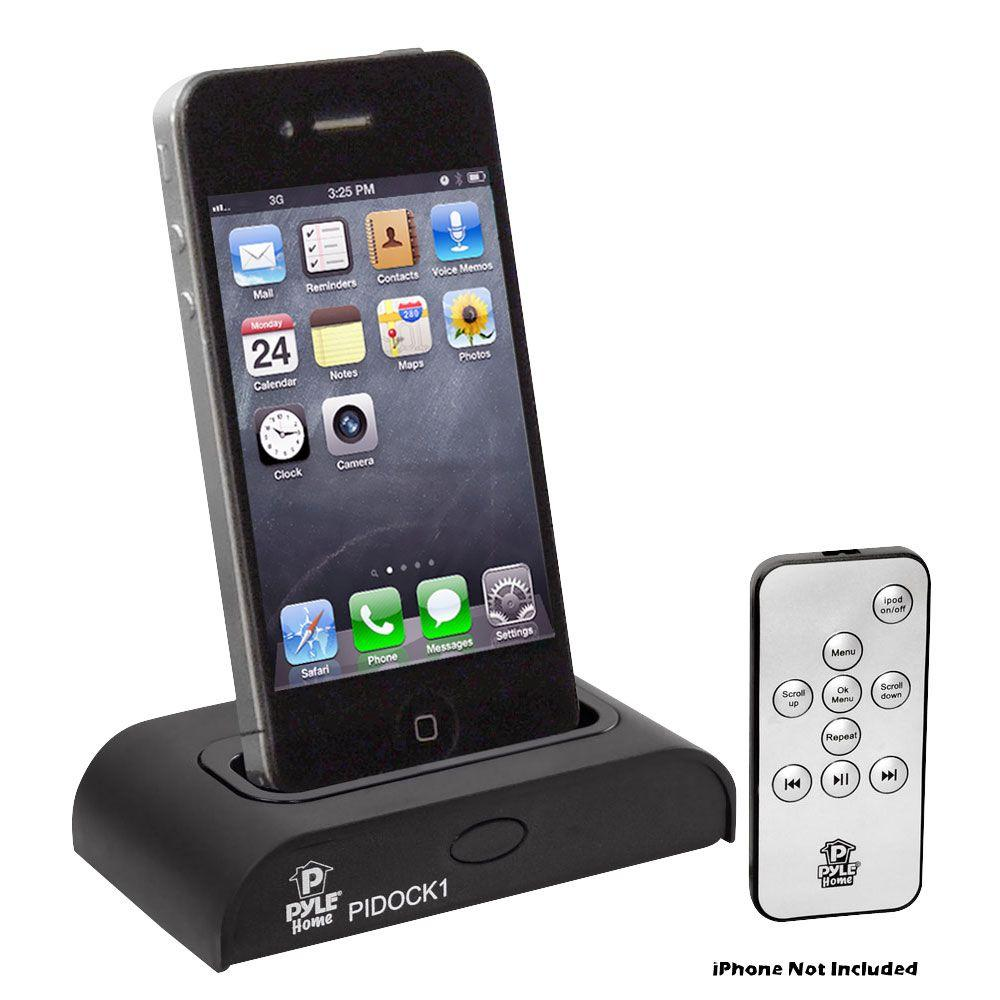 pyle universal ipod iphone docking station for audio. Black Bedroom Furniture Sets. Home Design Ideas