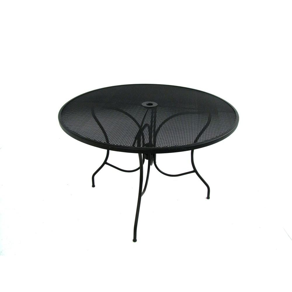 Hampton Bay Jackson 44 in. Round Patio Dining Table