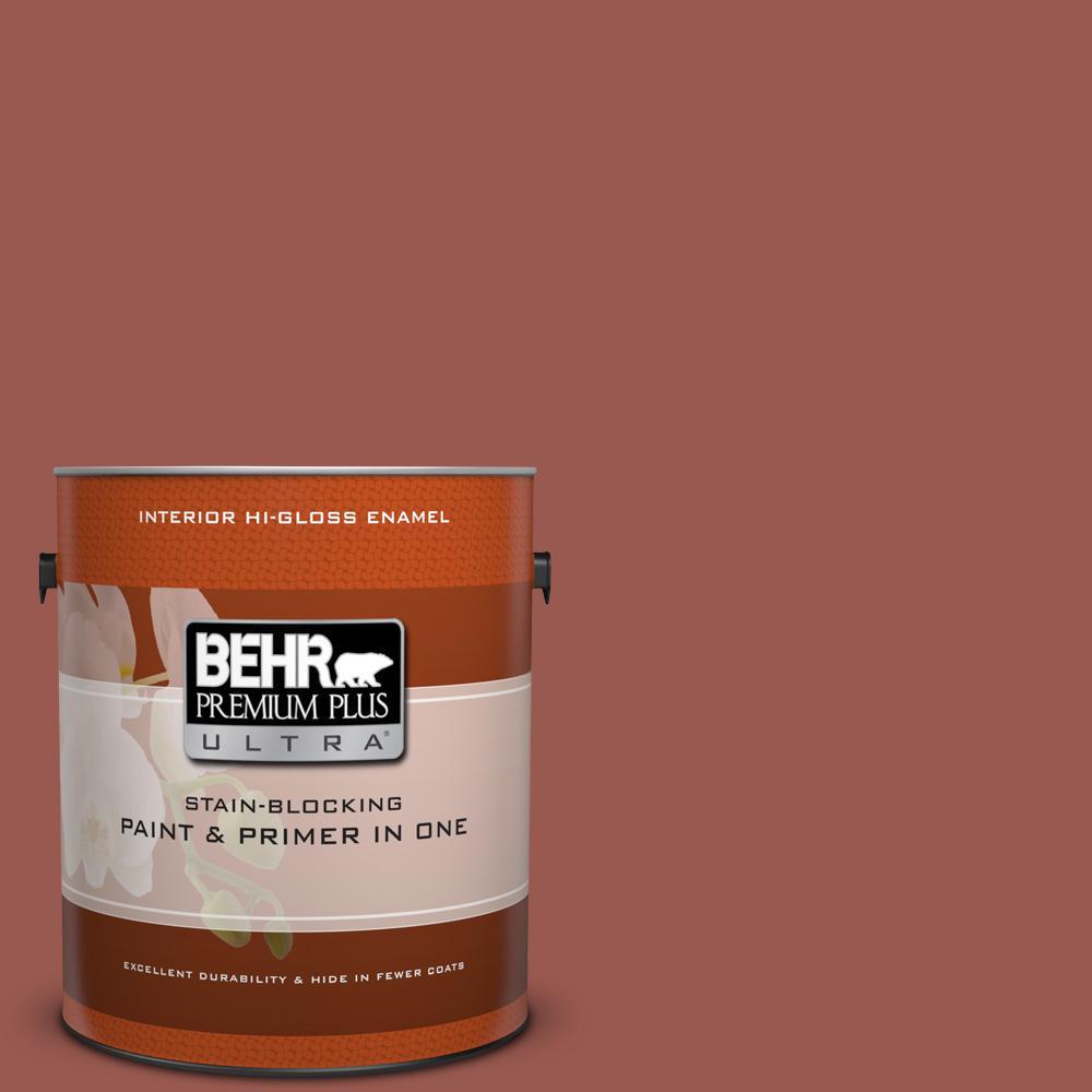 1 gal. #S160-6 Red Potato Hi-Gloss Enamel Interior Paint