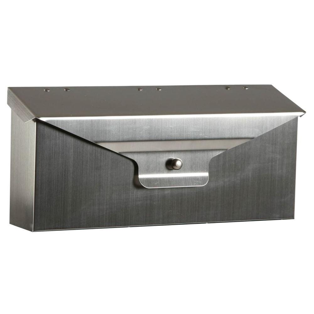 Delegance Steel Horizontal Wall-Mount Mailbox in Stainless Steel