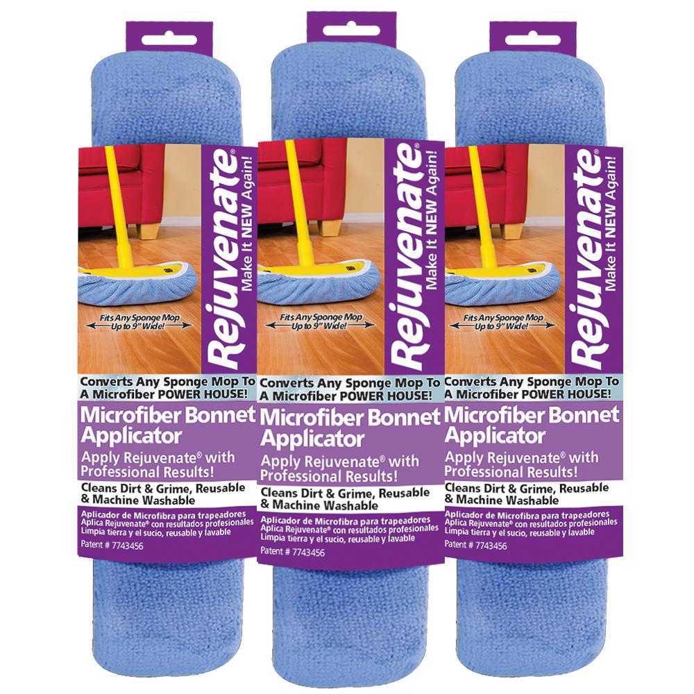 Microfiber Bonnet Applicator Wet Mop Pad Refill (3-Pack)