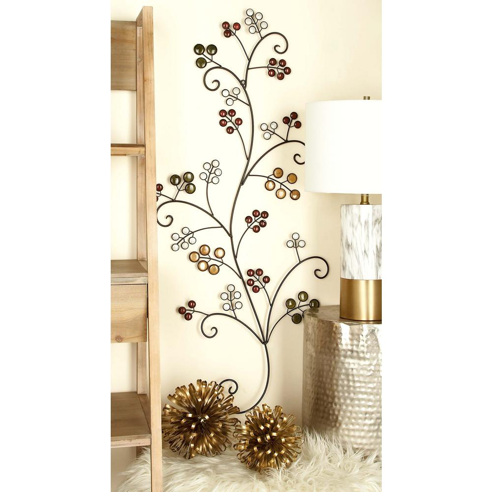 Iron Scrollwork Wall Decor 20 Inx 49 Innew Traditional Multicolored Iron Scrollwork With