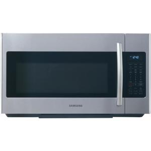 Samsung 30 In W 1 8 Cu Ft Over The Range Microwave