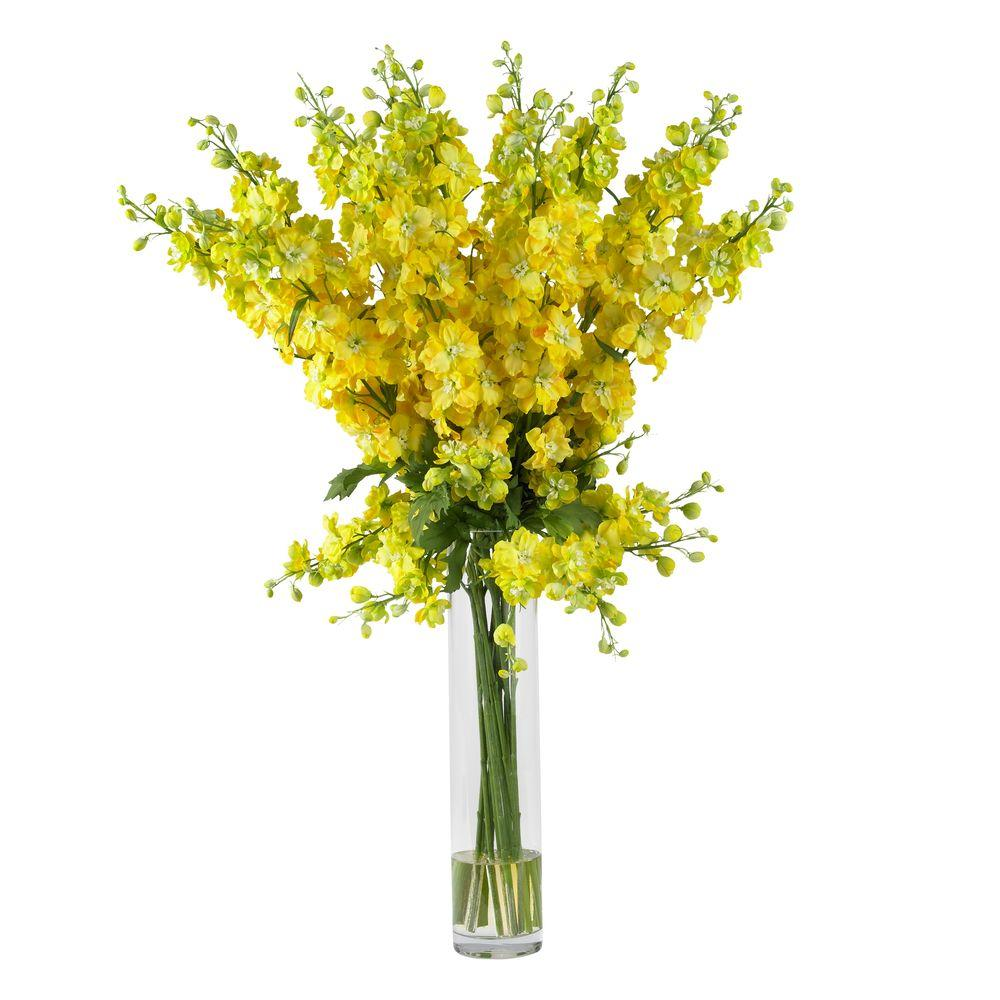 38 in h yellow delphinium silk flower arrangement 1224 yl the h yellow delphinium silk flower arrangement mightylinksfo