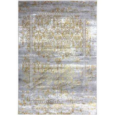 Silky Gold Collection Gold Sultan 5 ft. x 8 ft. Anti-Bacterial Area Rug
