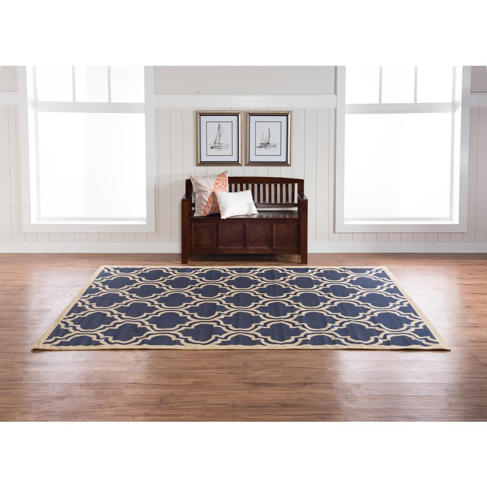 Rugs Home Decor: Linon Home Decor Innovations Reversible Navy And Tan