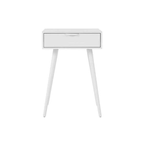 Amerlin 1 Drawer White Wood Nightstand (18 in W. X 26 in H.)