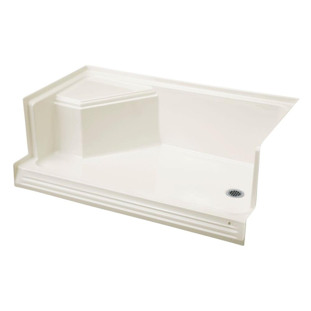 Beautiful KOHLER Memoirs 60 In. X 36 In. Shower Base With Integral Seat At Left