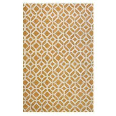 Taza Yellow 10 ft. x 14 ft. Area Rug