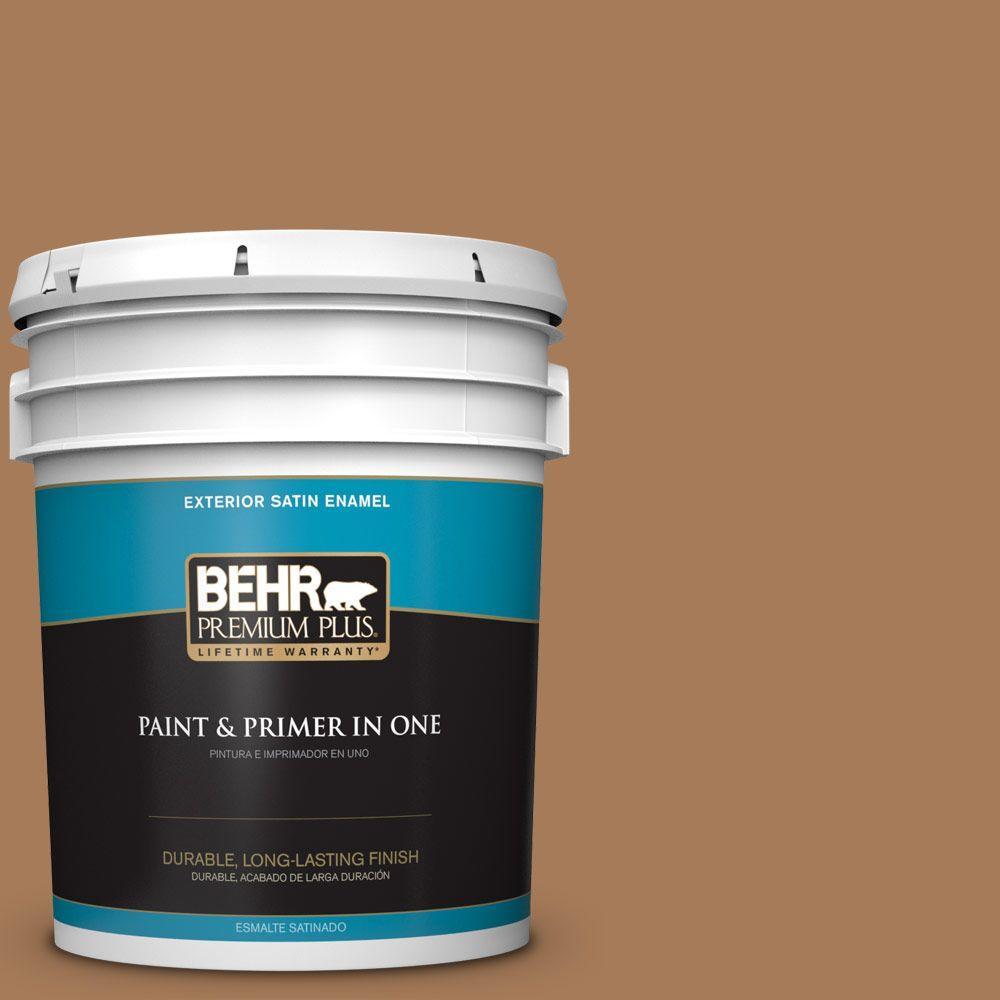 BEHR Premium Plus 5-gal. #260F-6 Smokey Topaz Satin Enamel Exterior Paint
