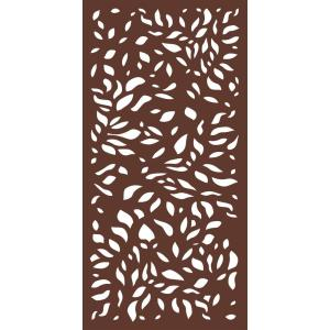6 ft. x 3 ft. Espresso Brown Modinex Decorative Composite Fence Panel in the Botanical Design by