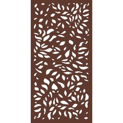 6 ft. x 3 ft. Espresso Brown Modinex Decorative Composite Fence Panel in the Botanical Design