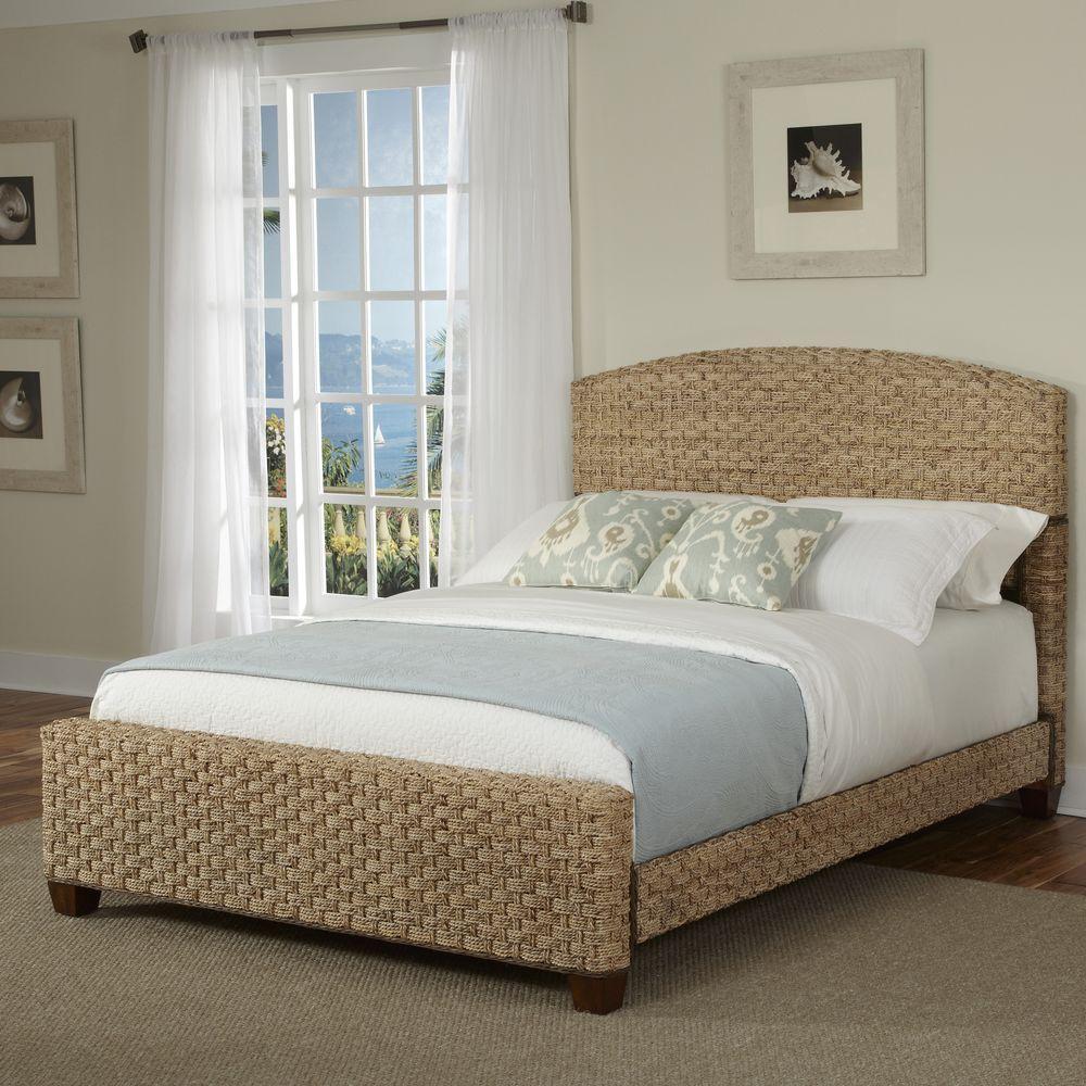 Home Styles Cabana Banana Honey King Bed Frame