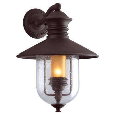 Old Town Natural Bronze Outdoor Wall Mount Lantern