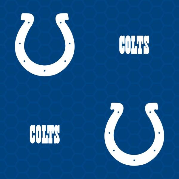 Fathead Logo Indianapolis Colts Blue Vinyl Peelable Roll Covers 33 Sq Ft 1183 00264 The Home Depot